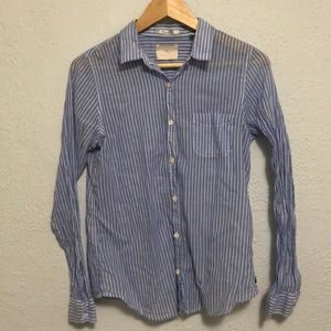 Maison Scotch Stripe Button Down Shirt EUC
